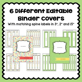 Editable Binder Covers and Spines in Pastel Colors Part 1