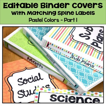 binder spines pastel teaching resources teachers pay teachers