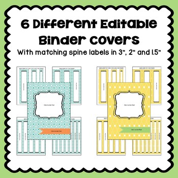 Editable Binder Covers and Spines in Pastel Colors - Part 2