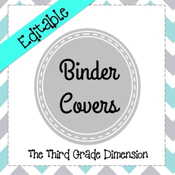 Binder Covers  TEXT EDITABLE in Shades of Gray