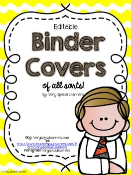 Editable Binder Covers (of all sorts!)