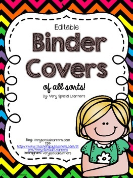 Editable Binder Covers (of all sorts) NEON