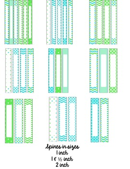Editable Binder Covers with Editable Spine Labels!