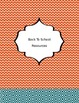 Binder Covers with Spine Inserts~TEAL AND ORANGE Theme