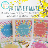 Editable Planner-Binder Covers/Forms for SLPs & Special Education Teachers