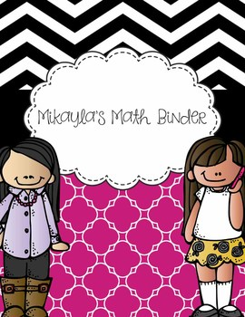 Editable Binder Sets - Chevron, Magenta - Teacher, Student, Subject Binders