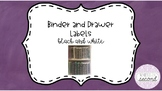 Editable Binder and Drawer Labels
