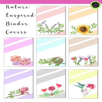 Binder Cover and Spines {Editable}