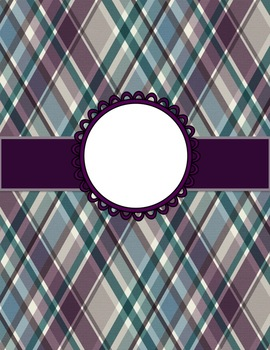 Editable Binders, Labels, Notecards and More Designed in Teal and Plum