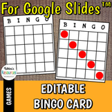 Editable Bingo Boards for Google Slides™
