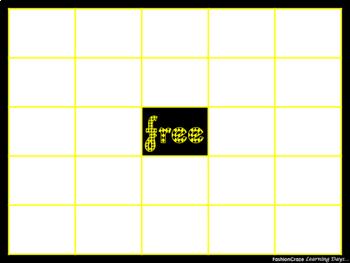 Editable Bingo Boards in Neon Colors