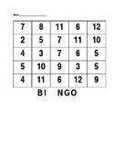 Editable Bingo Card