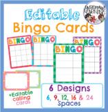 Editable Bingo Cards