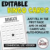 Editable Bingo Cards - Commercial Use Version