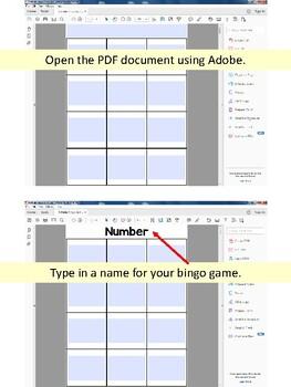 Editable Bingo Game Template