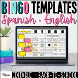 Editable BINGO Get to Know Me PPT Templates | Spanish and English