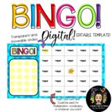 Digital & Editable: Bingo Template!