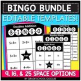 Editable Bingo Template BUNDLE | Blank Bingo | Sight Word