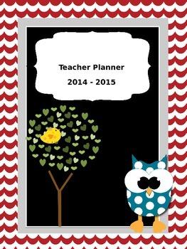 2014 - 2015 Bird & Owl Themed Editable Teacher Planner/Binder