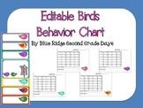 Editable Birds Behavior Chart and Editable Behavior Calendars