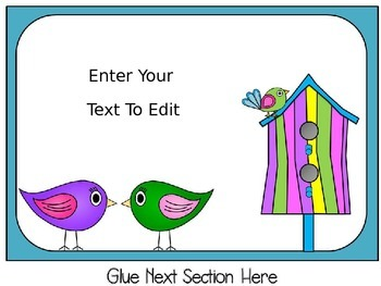 Editable Birds Behavior Chart and Editable Behavior Calendars