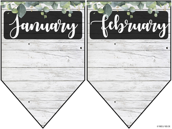 Editable Birthday Banner Display (Farmhouse/Shiplap)