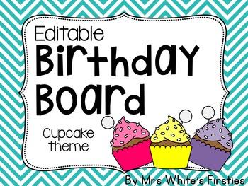 Editable Birthday Board Display