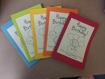 Editable Birthday Card for Students