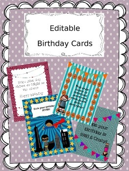 Editable Birthday Cards By En Amor Con 4