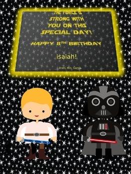 Editable Birthday Cards