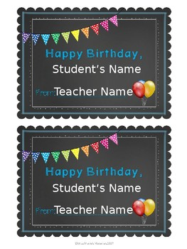 Editable Birthday Cards and Banner