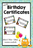 Editable Birthday Certificates #ausbts19 #ringin2019