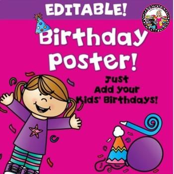 Editable Birthday Chart!