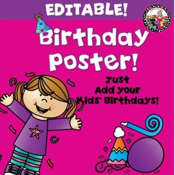 Editable Birthday Chart!