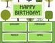 Editable Birthday Chart - Camp, Tree, Nature Themed