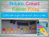 Editable Birthday Cones