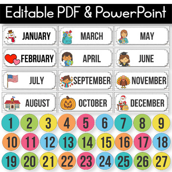 Editable Birthday Display, Editable Birthday Chart, Flamingo Classroom Decor