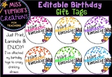 #ausbts18 Editable Birthday Gift Tags