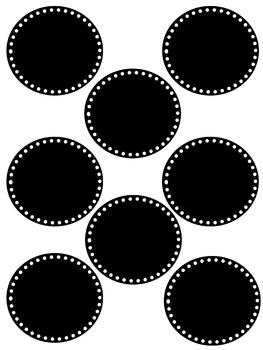 Editable Birthday Labels - Black & Color Version