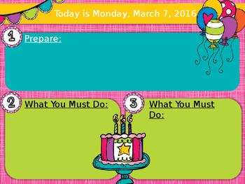 Editable Birthday Morning Board Template