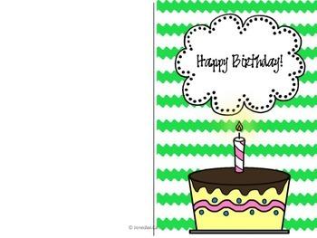 Editable Birthday Pack