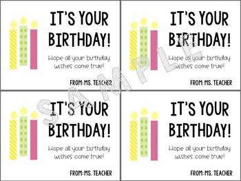 Editable Birthday Printables