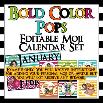 Editable Bitmoji Classroom Bundle- economy, name plates, banner, calendar, etc..