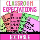 Editable Bitmoji Classroom Expectation Posters
