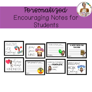 Editable Bitmoji Encouraging Notes for Students
