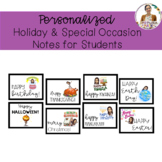 Editable Bitmoji Holiday and Special Occasion Notes for Students