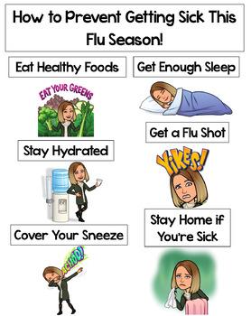 Editable Bitmoji How To Prevent Getting the Flu Poster