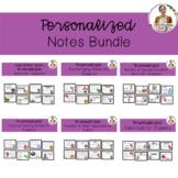 Editable Bitmoji Notes Bundle