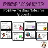 Editable Bitmoji Positive Testing Notes for Students