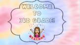 Editable Bitmoji Welcome to Third Grade Classroom Sign